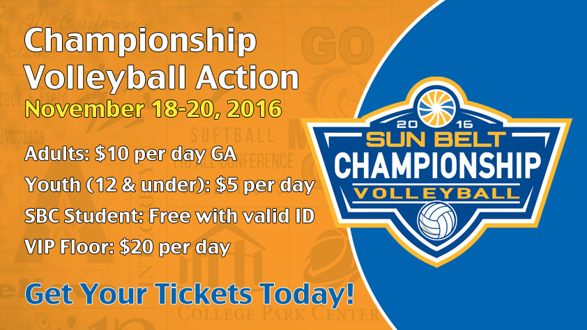2016 Sun Belt Conference Volleyball Championship Nov. 18-20, 2016