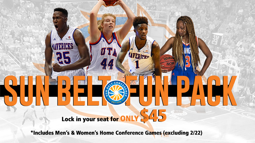 2017-18 UTA Basketball Sun Belt Fun Pack