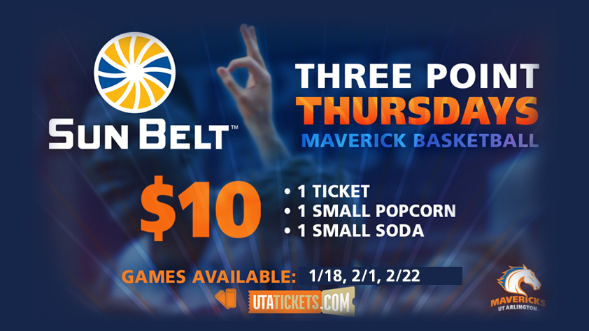 2018 UTA Basketball 3 Point Thursdays