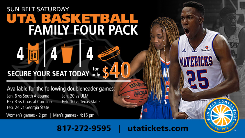 2018 UTA Basketball Sun Belt Saturday Family Four Pack