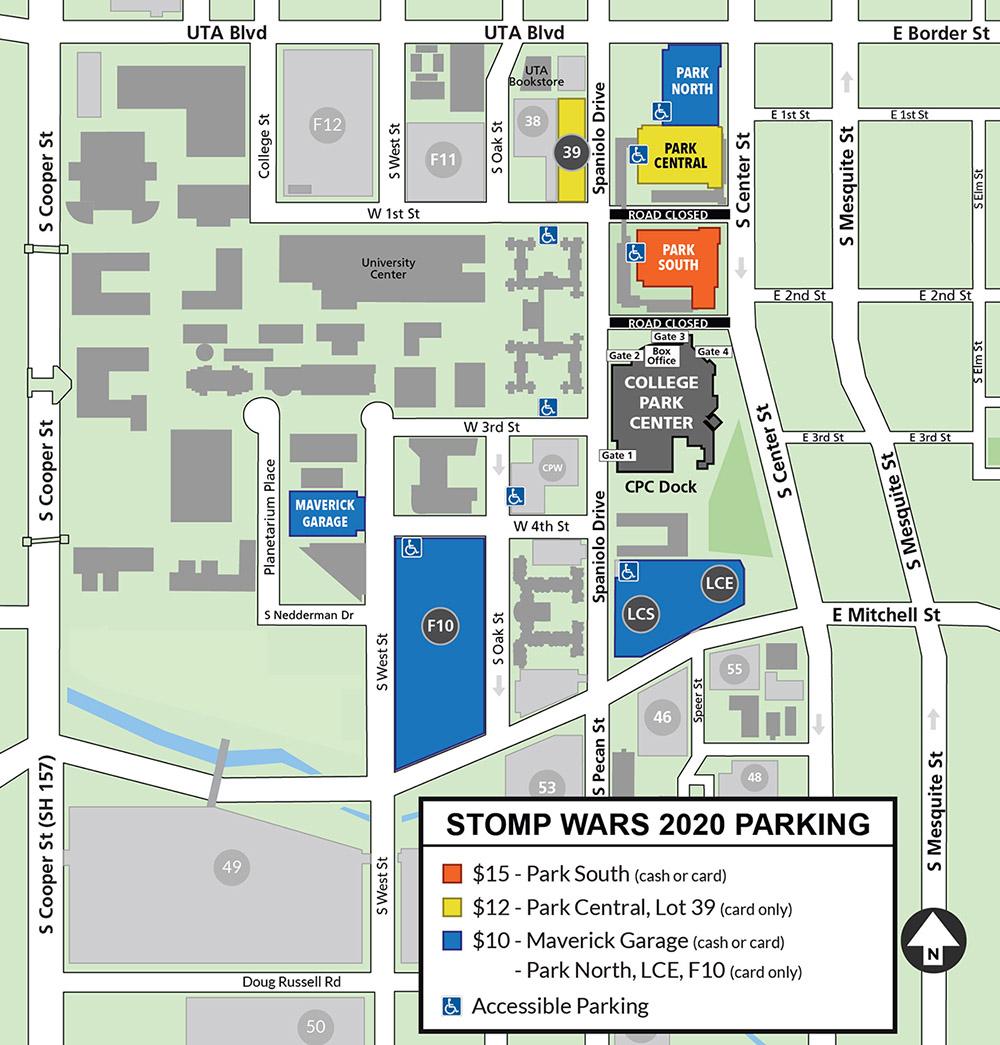 Stomp Wars Parking Map